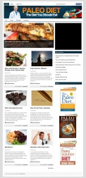Paleo Diet PLR Niche Blog Template with private label rights