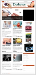 Diabetes PLR Niche Blog Template with private label rights