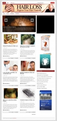 Hair Loss PLR Niche Blog Template with private label rights