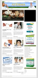 Asthma PLR Niche Blog Template with private label rights