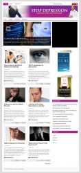Stop Depression PLR Niche Blog Template with private label rights