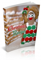Family Christmas Recipes eBook with private label rights