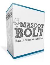 Mascot Bolt Businessman Edition Graphic with Personal Use Rights/Developers Rights