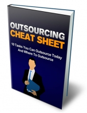 Outsourcing Cheat Sheet eBook with private label rights