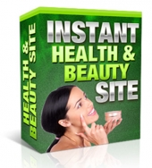 Instant Health And Beauty Site Software with Master Resale Rights