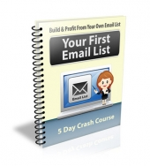 Your First Email List eCourse eBook with Private Label Rights
