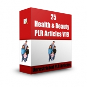 25 Health & Beauty PLR Articles V19 Free PLR Article with private label rights