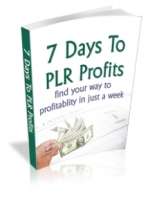 7 Days To PLR Profits eBook with Private Label Rights