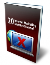 20 Internet Marketing Mistakes To Avoid eBook with Master Resale Rights/Giveaway Rights
