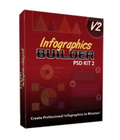 Infographics Builder PSD Kit 2 Graphic with private label rights