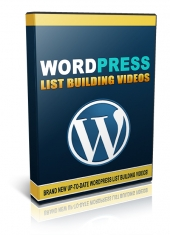Wordpress List Building Videos Video with Personal Use Rights