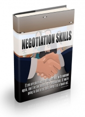 Negotiation Skill Techniques eBook with Personal Use Rights