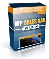 WP Sales Bar Plugin Software with Master Resell Rights
