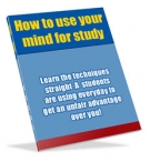 How to use your mind for study eBook with Resell Rights