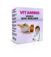 Vitamins Video Site Builder Software with Master Resell Rights/Giveaway Rights
