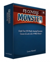 FB Covers Monster Graphic with Personal Use/Developer Rights
