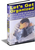 Let's Get Organized eBook with Resell Rights