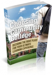 Choosing Community College eBook with Master Resell Rights