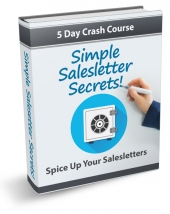 Simple Salesletter Secrets eCourse eBook with Private Label Rights
