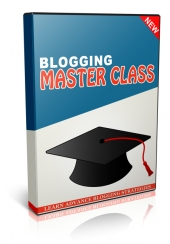 Blogging Master Class Video with Private Label Rights