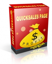 QuickSales Page Software with Personal Use Rights