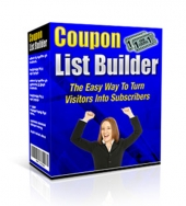 Coupon List Builder Software with Master Resell Rights