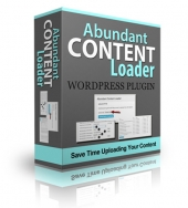 Abundant Content Loader Plugin Software with Personal Use Rights
