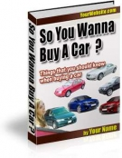 So You Wanna Buy A Car ? eBook with Resell Rights
