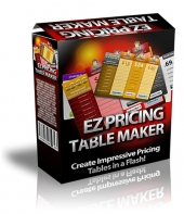 EZ Pricing Table Maker Software with private label rights