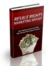 Resale Rights Marketing Report eBook with Private Label Rights