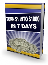 Turn $1 Into $1000 In 7 Days eBook with Private Label Rights