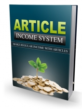 Article Income System eBook with Personal Use Rights