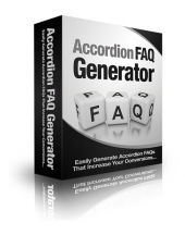 Accordion FAQ Generator Software with Master Resell Rights