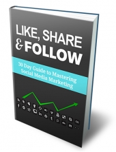 Like, Share & Follow eBook with Master Resell Rights