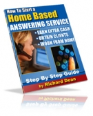 How To Start A Home Based Answering Service eBook with Resell Rights