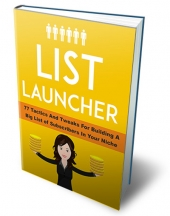List Launcher eBook with Private Label Rights