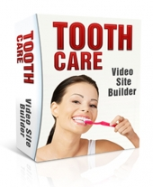 Tooth Care Video Site Builder Software with private label rights