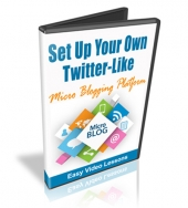 Set Up A Twitter-Like Micro-Blog Video with Master Resell Rights