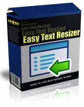 Easy Text Resizer Software with Master Resell Rights