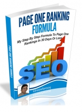 Page One Ranking Formula eBook with Private Label Rights