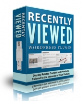 Recently Viewed WP Plugin Software with Personal Use Rights