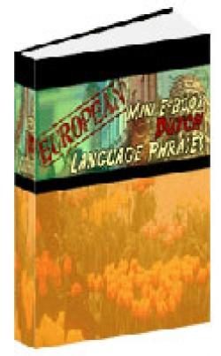 European Mini E-Book Dutch Language Phrases