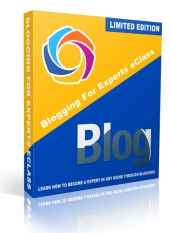 Blogging For Experts eClass Video with Private Label Rights
