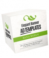 Elegant Banner Ad Templates Package Graphic with private label rights