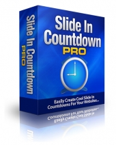 SlideIn Countdown Pro Software with Master Resell Rights