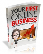 Your First Online Business eBook with private label rights