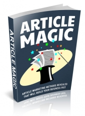 Article Magic eBook with Master Resell Rights/Giveaway Rights