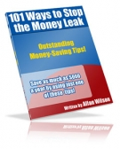 101 Ways To Stop The Money Leak eBook with Resell Rights