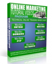 Online Marketing Training Videos Package Video with Resell Rights