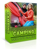 Camping Video Site Builder Software with private label rights